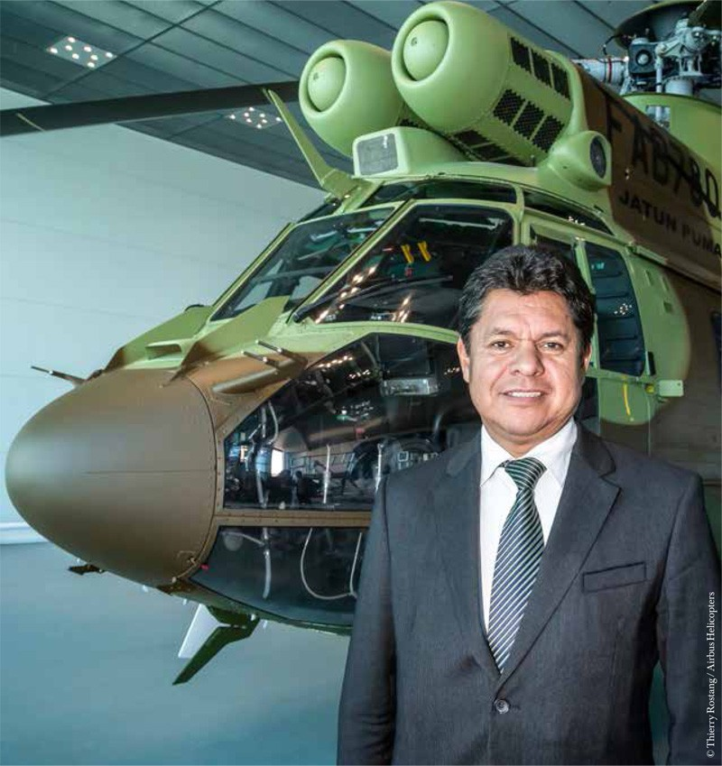 Bolivian Minister Of Defense During His Visit To Airbus Helicopters In Marignane France